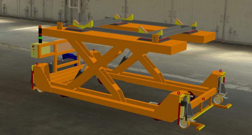 Chariot table élévatrice de bogies Bigorre Ingénierie