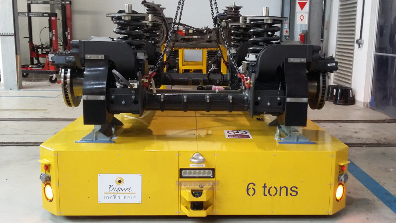 Bogie tram transport trolley, train, metro Bigorre engineering