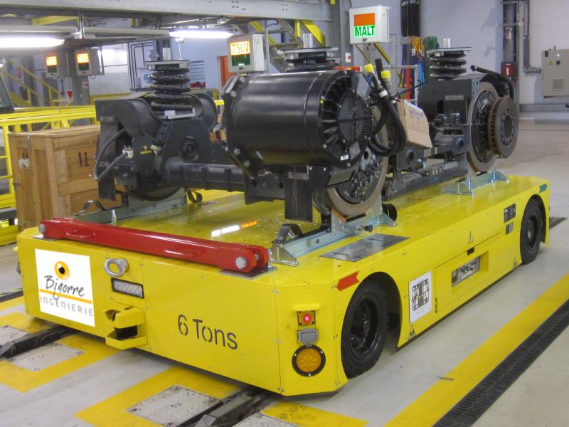 Chariot de transport de bogie de tramway, train, métro Bigorre Ingénierie
